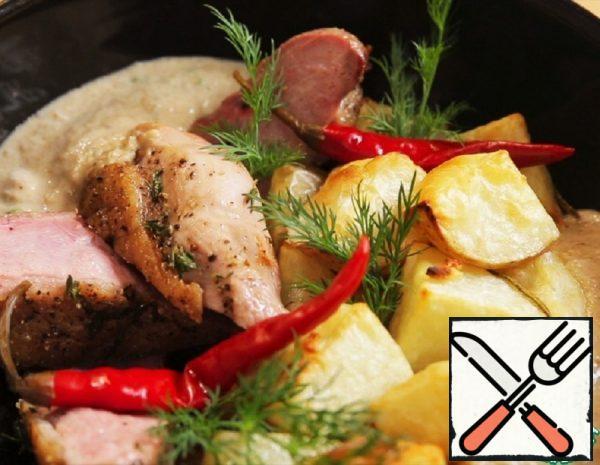 Duck Breast with Potatoes in the Oven Recipe