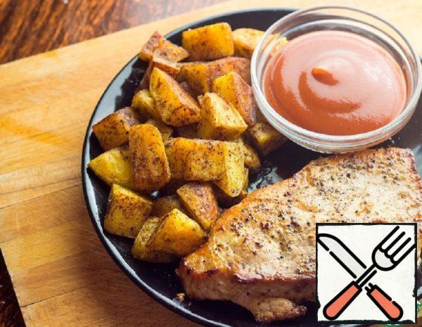Roast Pork with spiced Potatoes Recipe
