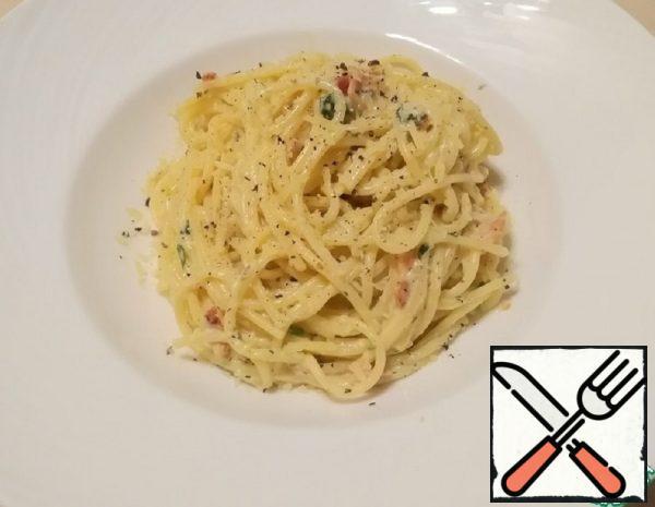 """Pasta in the Style of """"Carbonara"""" Recipe"""