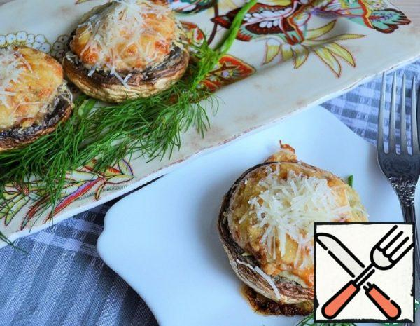 Mushrooms with baked Egg Recipe