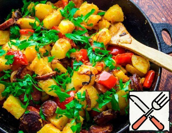 Potatoes with smoked Sausage and Pepper Recipe