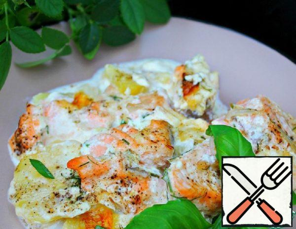 Swedish Salmon Casserole Recipe