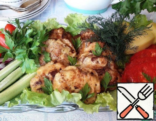 Chicken Liver in Sour Cream and Garlic Batter Recipe
