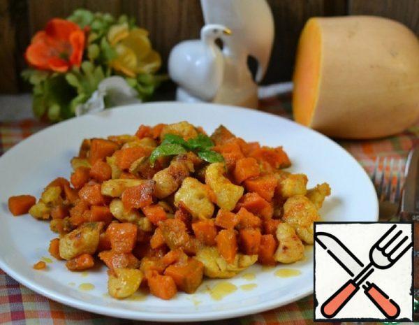 Pumpkin with Chicken Meat Recipe