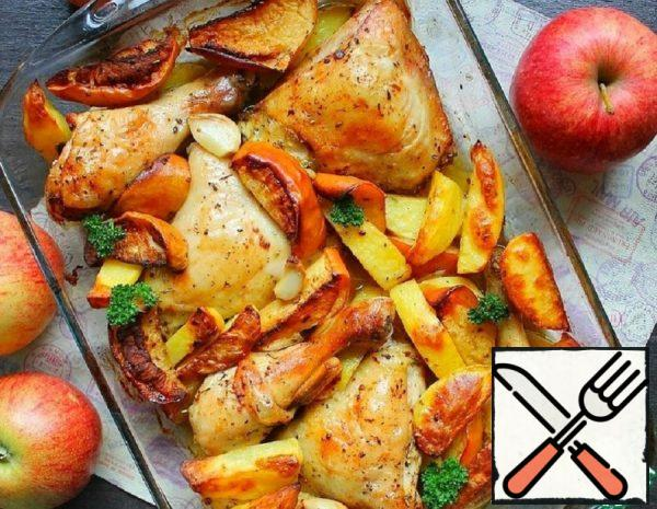 Baked Ham with Potatoes and Apples Recipe