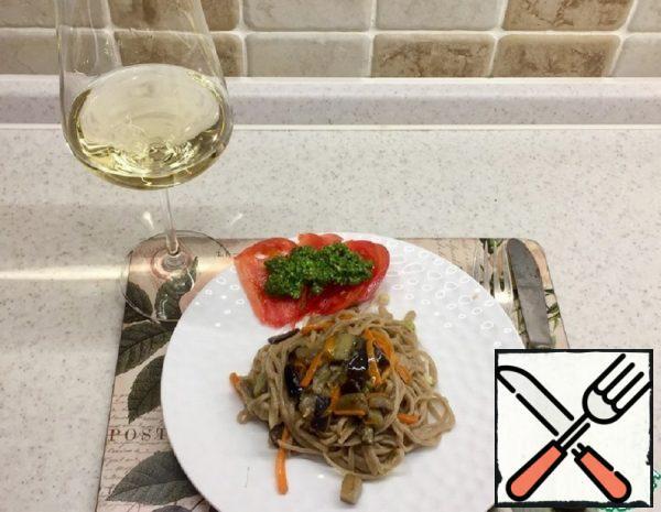 Buckwheat Noodles with Eggplant Recipe