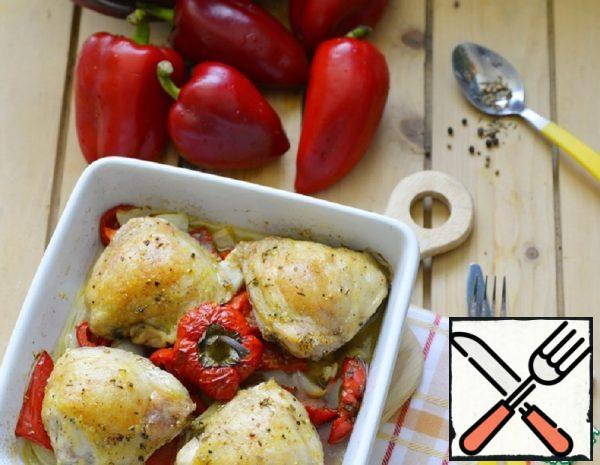 Chicken Thighs baked with Aromatic Pepper Recipe