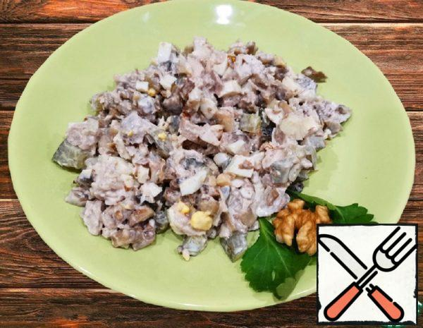 Chicken Breast Salad with Walnuts Recipe