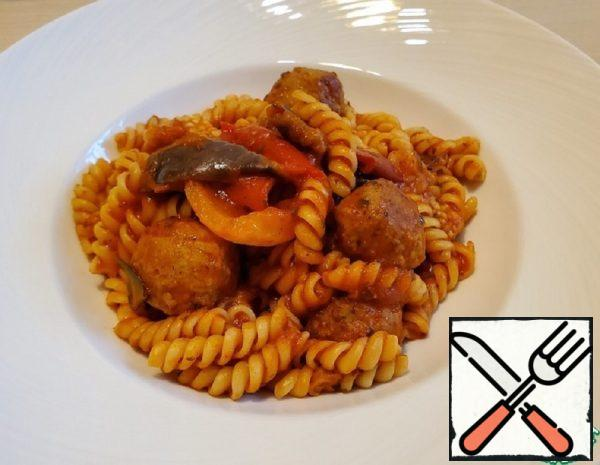 Pasta with Meatballs and Vegetables Recipe