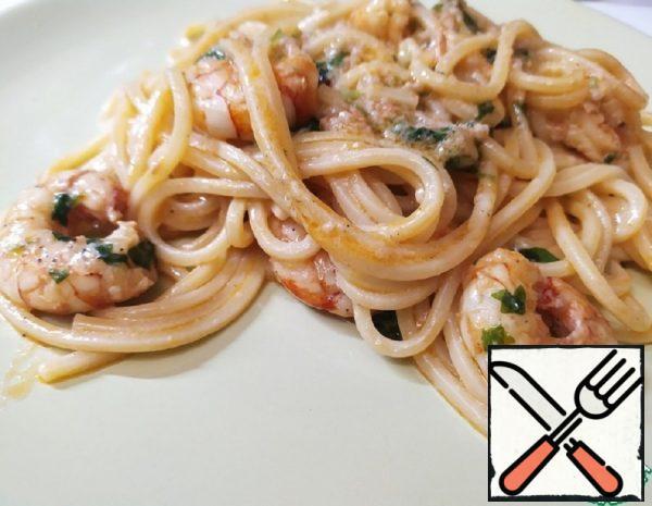 Pasta with Shrimp in Garlic Sauce Recipe