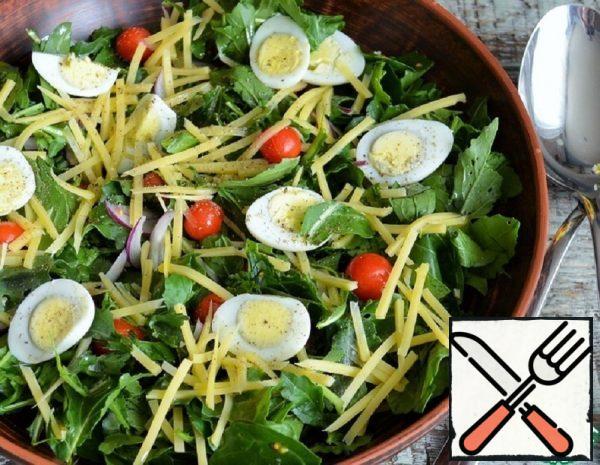 Arugula, Egg and Cheese Salad Recipe