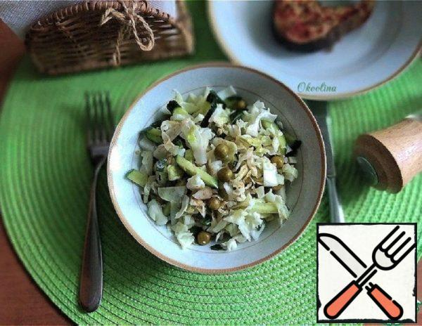 Green Salad with Young Cabbage Recipe