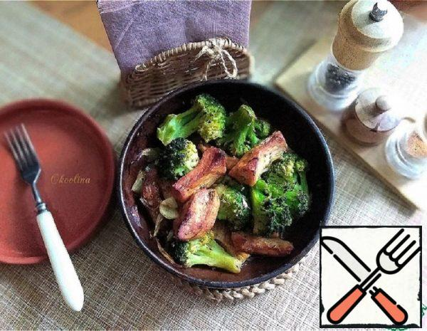 Meat baked with Broccoli Recipe