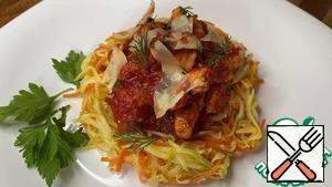 Serve, garnished with grated cheese. Bon Appetit!!!
