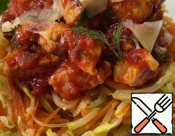 Vegetable Pasta with Chicken Fillet Recipe