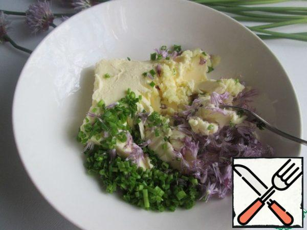 Stir with a fork