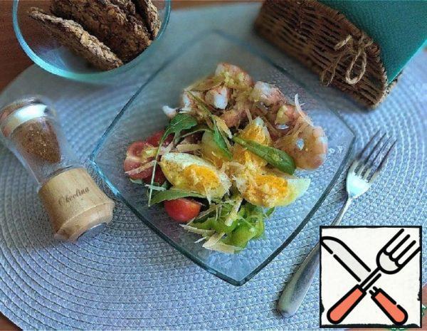 Salad with Tiger Prawns Recipe