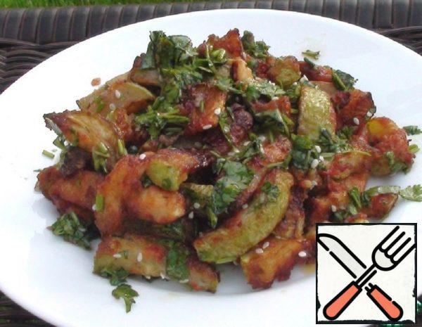 Fried Zucchini in Korean Recipe