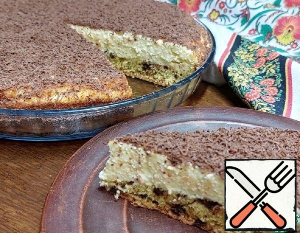 """Cottage Cheese Pie """"On the Contrary"""" with Chocolate Recipe"""