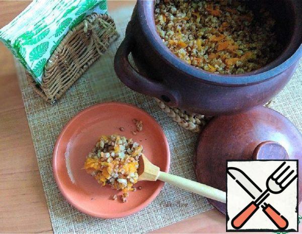 Buckwheat Porridge with Carrots from a Pot Recipe