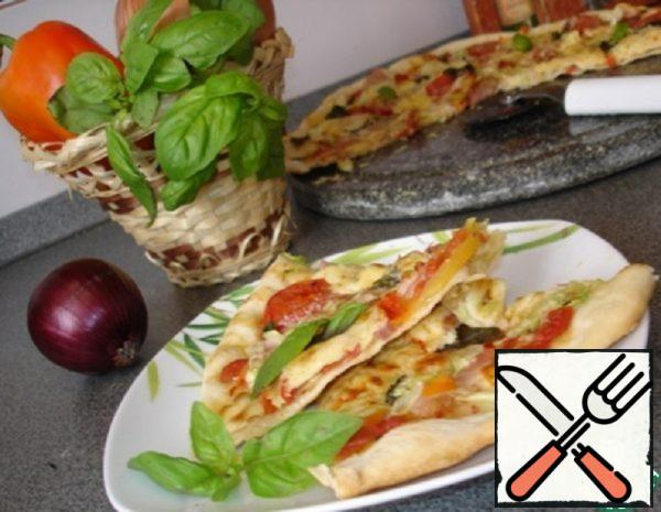 Tuscan Pizza with Vegetables Recipe