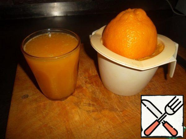 We extract orange juice...