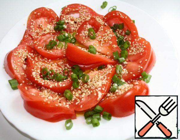 Tomato Salad with Sesame Seeds Recipe