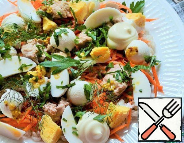 Salad with Cod Liver Recipe