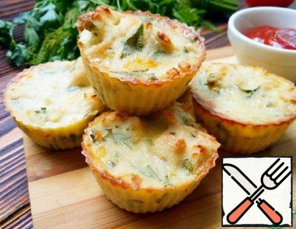 Muffins Made of Chicken, Cheese and Herbs Recipe