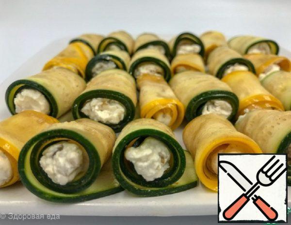 Zucchini Snack Rolls Recipe