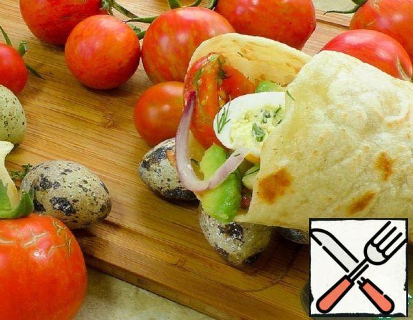 Summer Snack in Lavash Recipe