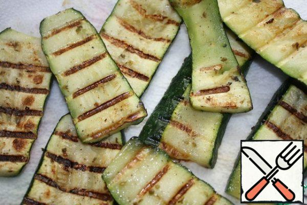 Zucchini or bake in the oven or on the grill or fry in a grill pan.