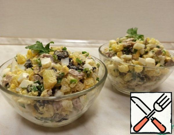 Meat Salad with Prunes Recipe