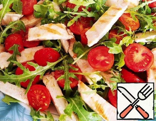 Salad with Chicken Breast and Arugula  Recipe