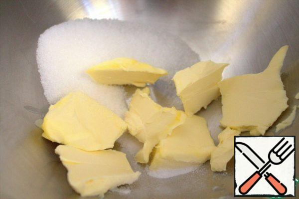Put the butter at room temperature and sugar in a bowl.
