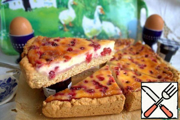 Norwegian Cake with Cranberries Recipe
