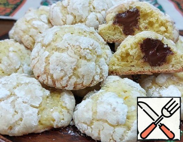 Orange Cookies with Chocolate Filling Recipe