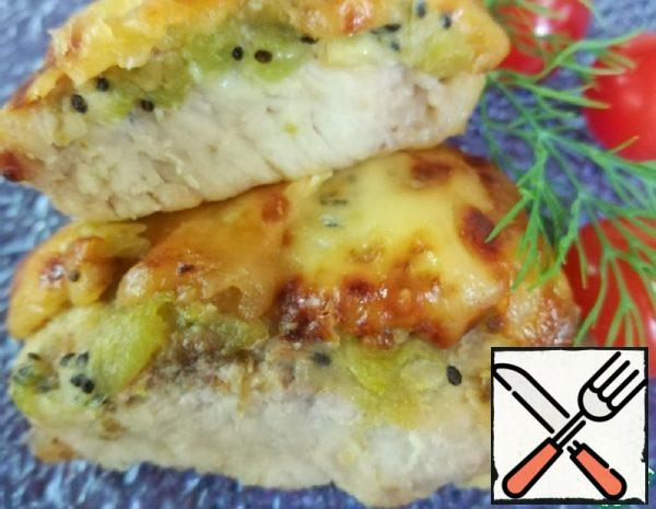 Pork with Banana, Kiwi with Cheese Recipe