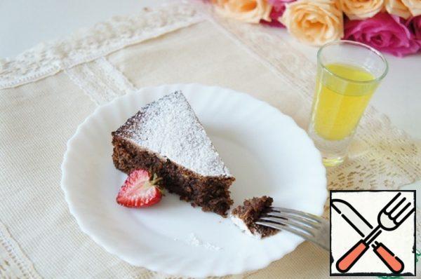 """Cake """"Caprese"""" with Limoncello Recipe"""