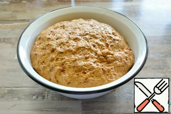 During this time, knead the dough 2-3 times right in the bowl.