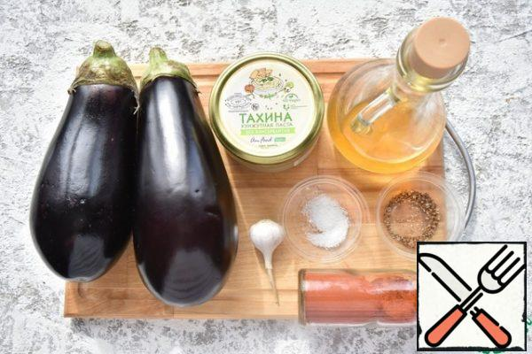 Prepare the products. You can prepare tahini paste yourself or buy a ready-made product.