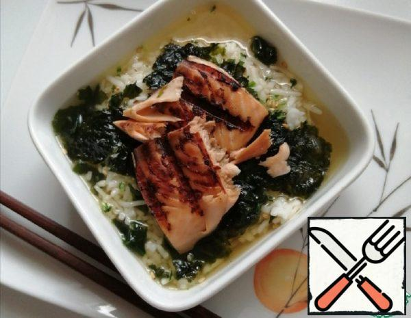 Salmon with Rice in Green Tea Recipe