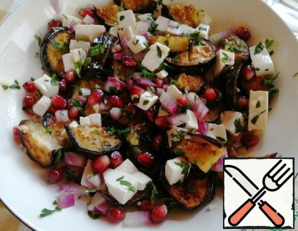 Salad with Eggplant, Feta and Pomegranate Recipe
