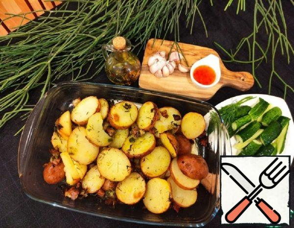 Baked Potatoes with Pork Rinds Recipe