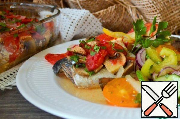 Bulgarian Mackerel in Wine Sauce Recipe