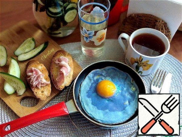 Blue Scrambled Eggs Recipe