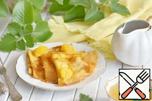 Crepe Suzette-French Pancakes Recipe