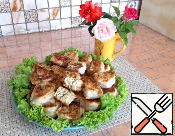 Pita Bread Rolls with Cheese Recipe