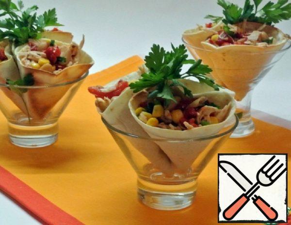 Snack Cones with Filling Recipe