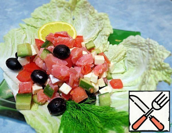 Salad with lightly salted Salmon Recipe